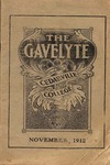 The Gavelyte, November 1912 by Cedarville College