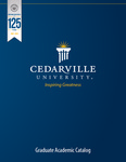 2012-2013 Graduate Academic Catalog by Cedarville University