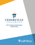 2014-2015 Graduate and Adult Programs Academic Catalog by Cedarville University