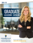 2018-2019 Graduate Academic Catalog by Cedarville University