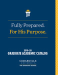 2019-2020 Graduate Academic Catalog by Cedarville University