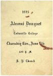 1923 Alumni Banquet Program by Cedarville College