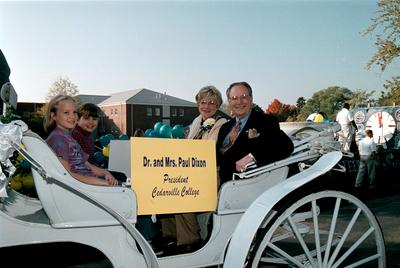 Homecoming Parade: Dr. and Mrs. Dixon