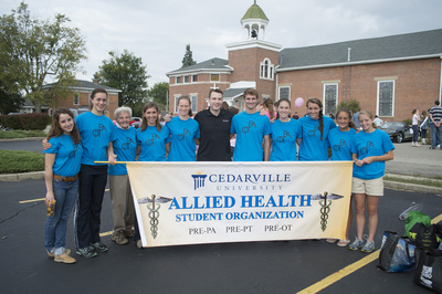 Homecoming Parade: Allied Health Student Organization
