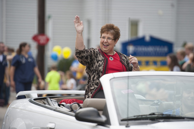 Jan Conway in the Homecoming Parade