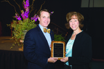 Alumna of the Year - Georgia Purdom with Dr. Thomas White