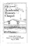 27th Annual Academic Honors Day Chapel