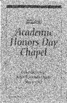 28th Annual Academic Honors Day Chapel