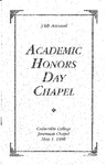 34th Annual Academic Honors Day Chapel by Cedarville College