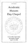 42nd Annual Academic Honors Day Chapel