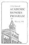 13th Annual Academic Honors Program