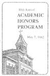 18th Annual Academic Honors Program