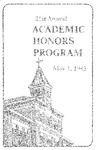 21st Annual Academic Honors Program