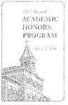 22nd Annual Academic Honors Program