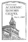 23rd Annual Academic Honors Chapel