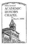 24th Annual Academic Honors Chapel