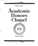 25th Annual Academic Honors Chapel