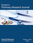 Excerpts in Pharmacy Research Journal by Cedarville University