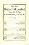 1912 Ohio State Oratorical Contest Program