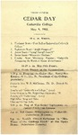 1913 Cedar Day Program by Cedarville College