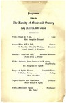 1914 Faculty of Music and Oratory Program