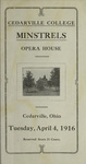1916 Cedarville College Minstrels Program by Cedarville College