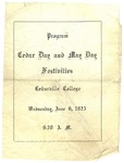 1923 Cedar Day Program by Cedarville College