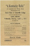 """A Kentucky Belle"" Program by Cedarville College"