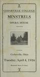 Cedarville College Minstrels Program by Cedarville College