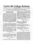 Cedarville College Bulletin, November-December 1933