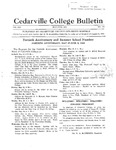 Cedarville College Bulletin, May-June 1934 by Cedarville College