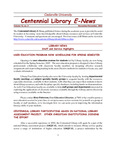 Centennial Library E-News, November/December 2004