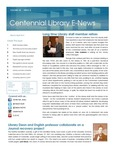 Centennial Library E-News, March/April 2015