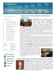 Centennial Library E-News, November/December 2015