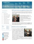 Centennial Library E-News, March/April 2016