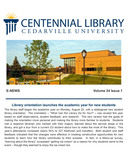 Centennial Library E-News, September/October 2016
