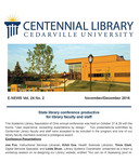 Centennial Library E-News, November/December 2016