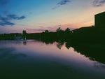 Cedar Lake at Dusk by Hannah Mathews