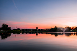 Sunset Over Cedar Lake by Wesley Williams