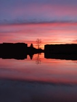 Mirror Sunset Over Cedar Lake by Mitchell Bowser