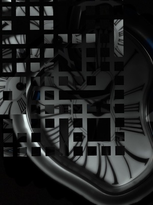 Abstract Clock (Black And White)