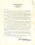 Recruitment Letter by Wilbert Renwick McChesney