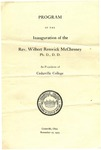Program of the Inauguration of the Rev. Wilbert Renwick McChesney by Cedarville College