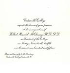 Inauguration Invitation by Cedarville College