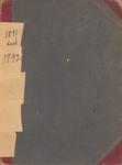 1891-1892 Journal