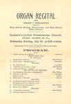 Organ Recital Program