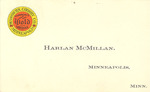 Harlan McMillan Business Card by Cedarville University