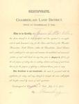 Homestead Certificate by Cedarville University