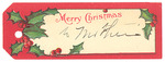 Christmas Gift Tag by Cedarville University