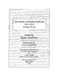 The Diaries of Martha McMillan, 1867-1913: Volume Notes